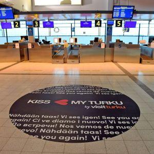 Turun lentokenttä Turussa 11. tammikuuta 2019.