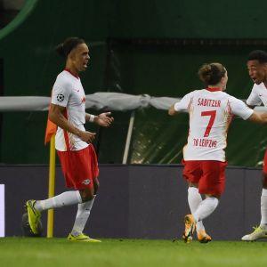 Tyler Adams nousi RB Leipzigin hahmoksi ottelun lopussa.