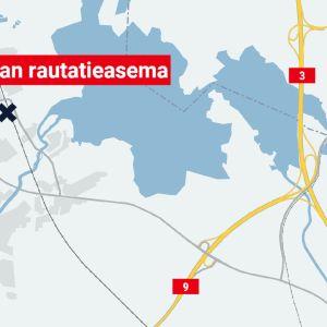 Viialan rautatieasema kartalla