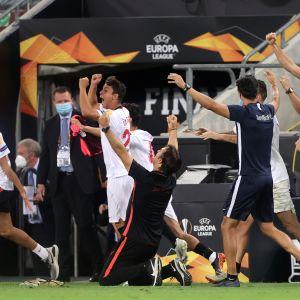 Sevilla juhlii Eurooppa-liigan voittoa