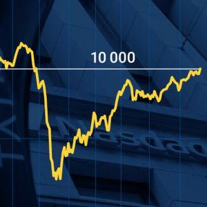 Helsingin pörssin yleisindeksi ylitti 10 000 rajan
