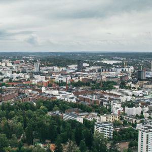Ilmakuvaa Tampereelta.