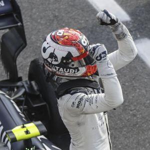 Pierre Gasly tuuletti uransa ensimmäistä F1-voittoa Monzassa.