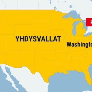 Kartta Yhdysvalloista.