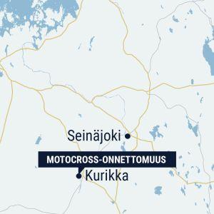 Kartta, jossa Kurikka, Seinäjoki ja Vaasa.