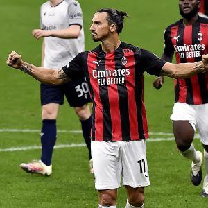 Zlatan Ibrahimovic oli liikaa Bolognalle.