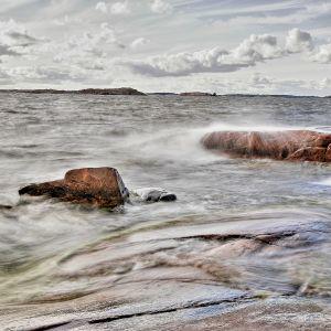 Itämerta Hangon Tulliniemessä.