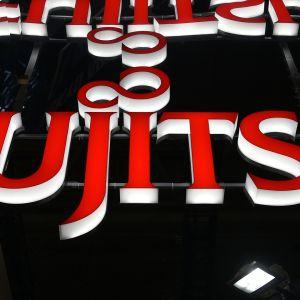 Fujitsun logo messuosastolla