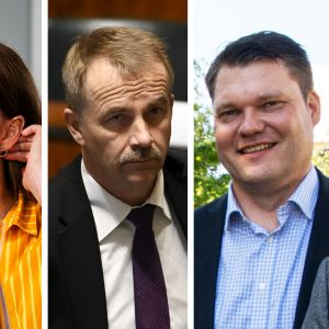 Katri Kulmuni, Arto Pirttilahti, Mikko Savola keskustasta ja Heli Järvinen vihreistä
