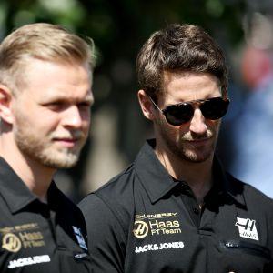 Kevin Magnussen ja Romain Grosjean
