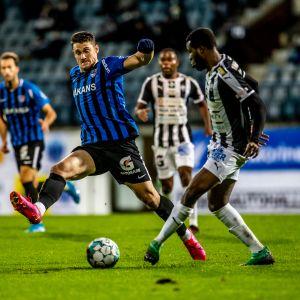 FC Inter ja TPS kohtasivat Veikkausliigassa.
