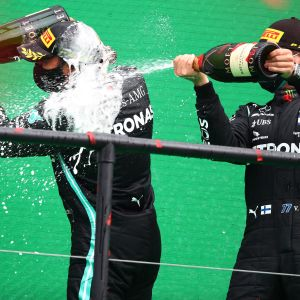 Lewis Hamilton, Valtteri Bottas Portugalissa.