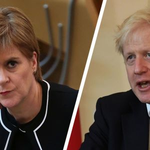 Nicola Sturgeon ja Boris Johnson