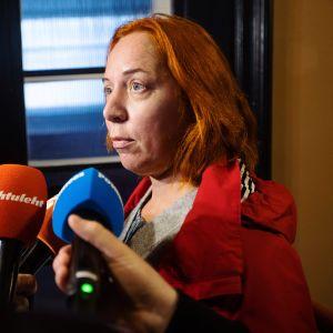 Mailis Reps kommentoi Mart Helmen eroa medialle lokakuussa.
