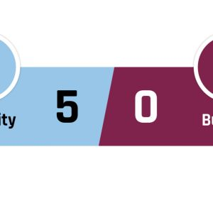 Manchester City - Burnley 5-0