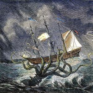 Puupiirros purjelaivasta