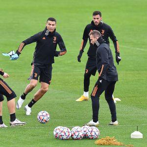 Cristiano Ronaldo Juventuksen harjoituksissa.