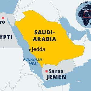 Kartta Saudi-Arabiasta