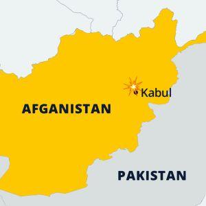 Afghanistan kartta.