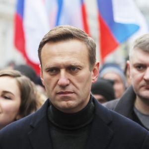 Aleksein Navalnyi Boris Nemtsovin muistomarssilla Moskovassa 29. helmikuuta.