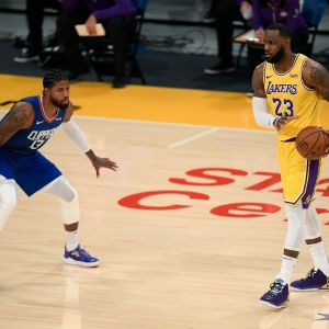 Paul George Le Bron James Lakers Clippers NBA