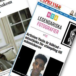 Dagens nyheter ja Expressen uutisoivat Yasinin vangitsemisesta.