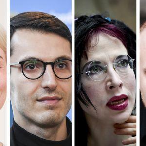 Kuvakombossa on neljä henkilöä: Laura Lindstedt, Pajtim Statovci, Sofi Oksanen ja Max Seeck.