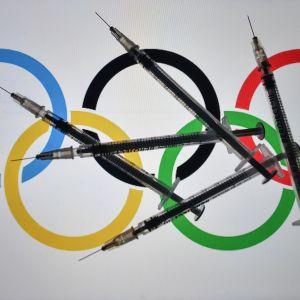 Olympiarenkaat ja rokotukset kuvassa