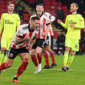 Billy Sharp iski Sheffield Unitedin voittomaalin.