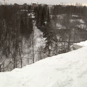 lunta pudotetaan katolta