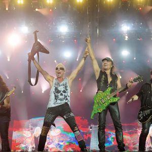 Rockbändi Scorpions esiintyi Rio de Janeirossa lokakuussa 2019.