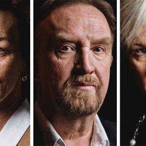 Kuvassa Lena Mitts, Klaus Viitanen, Petra Spring.