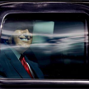 Donald Trump autossa.