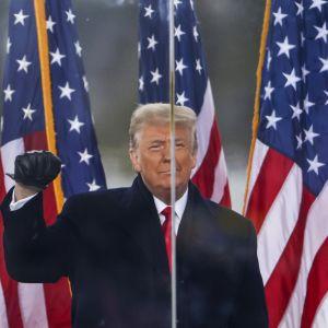 Yhdysvaltain ent. presidentti Donald Trump.