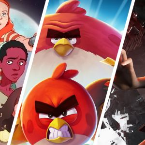 Kuvat Next Gamesin tulevasta Netflixin Stranger Things -sarjaan perustuvasta pelistä, Rovion Angry Birds 2 -pelistä ja Remedyn Control-pelistä.