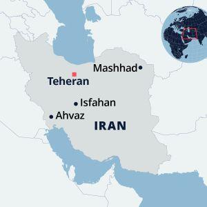 Kartta Iranista.