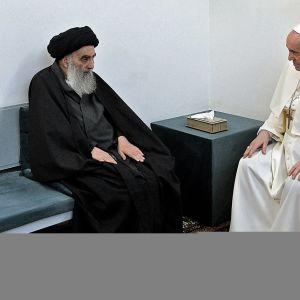 Irakissa vierailulla oleva paavi Franciscus on shiiojen vaikutusvaltaisen johtajan suurajatollah Ali al-Sistanin.