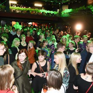 Vihreiden vaalivalvojaiset Helsingissä 9. huhtikuuta 2017.