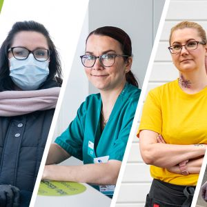 Hanna Pajunen, Susa Nuutinen, Eeva Hiila, Taru Muhsal ja Henri Lindeman.