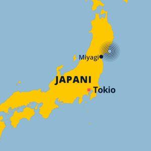 Maanjäristyksen lokaatio kartalla