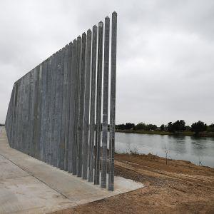 USA:n ja Meksikon välinen raja-alue Rio Grande joen varrella.