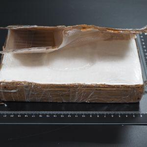 Poliisin kuva tapauksessa löytyneestä kokaiinipaketista.