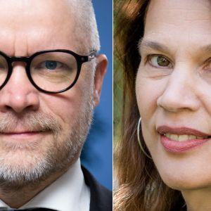 Aki Kangasharju ja Elina Pylkkänen.