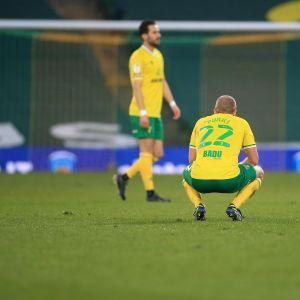 Teemu Pukki pettyi Norwich Cityn iltapuhteeseen.