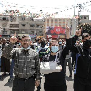 Mielenosoitus Gazassa.