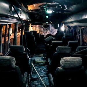 Räjähtänyt bussi.