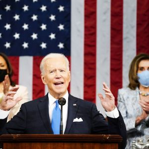 Joe Biden puhuu kongressille.