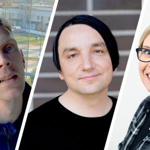Pietro Saari, Janne Takala ja Nina Liuko
