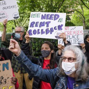 Vuoklralaisten oikeuksia vaativa mielenosoitus New Yorkissa.