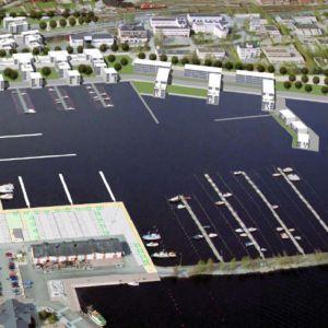 Havainnekuva Kuopion Maljalahden kerrostalorakentamisesta